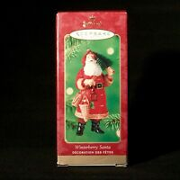 Hallmark Keepsake Winterberry Santa Christmas Ornament