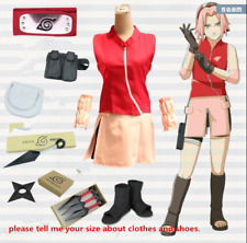 Naruto Haruno Sakura Cosplay Costume With whole Suits & weapons