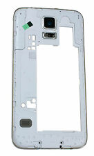 Hola Calidad Samsung Galaxy S4 g900f Carcasa Posterior Marco + Cámara Trasera Cubierta De Plata