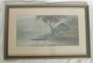 1930's Japanese watercolor by Kamo