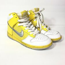 purchase cheap 39ad5 f90f3 Nike Womens Dunk High Yellow White Silver Size 9 318676-101