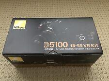 Nikon D5100 16.2MP Digital SLR Camera VR Kit in original box