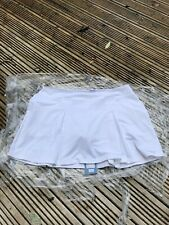 K17659 REEBOK CLUB PLEAT    Womens Tennis Skort SKIRT white shorts  XL  16