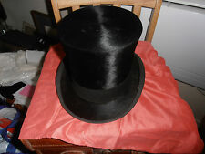 VTG Scott & Co Extra Quality Black Silk Top Hat size 7