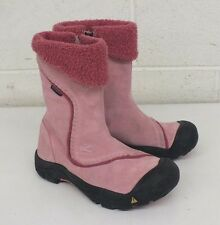 KEEN Dry Insulated Pink Suede Boots US Women's 5 EU 38 Satisfaction Guaranteed