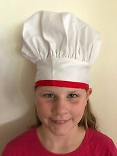 "Kids Adjustable Chef Hat New with Tags 16"" - 20 1/2"" Circumference Sz 6mo - 6"