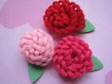 30 Felt Rose 4D Flower Leaf-3 Colors R088