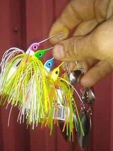 1/2 oz strike king spinner baits lot of 4