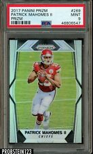 "2017 Panini Silver Prizm #269 Patrick Mahomes RC Rookie PSA 9 MINT "" High End """