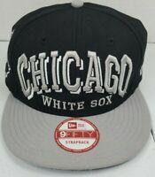 Chicago White Sox MLB New Era 9Fifty BLACK/GRAY Adjustable Strapback Cap Hat