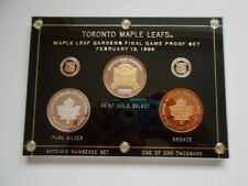 Toronto Maple Leafs Hockey Gardens rare numbered Final Game Proof coin set 1999
