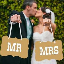 Wedding Mr And Mrs Signs Chair Sign Props Bride Groom Banner Reception Photo