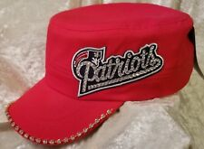 New England Patriots Women's Cadet Rhinestone Bling NFL Cap Hat ~NEW~