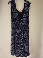 Condos XL/ XXL blue navy spotty dress