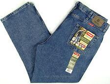 Wrangler Mens 42 X 30 Regular Fit Blue Denim Jeans 100 Cotton