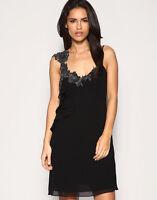New KAREN MILLEN Silk BNWT £160 Lace Embroidery Party Evening Dress UK 8 10 SALE