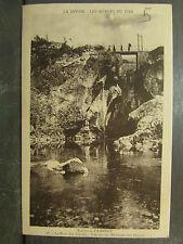 cpa 74 environs d' annecy le pont des liasses marmites geantes fier