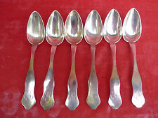 6 old Spoon __ Soup __800 Silver ___