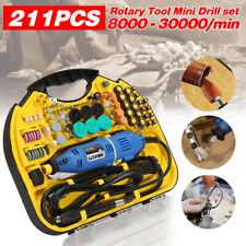 211pcs Electric Engraver Rotary Drill Kit Grinder Sander Polisher DIY Craft Set