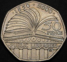 GREAT BRITAIN 50 Pence 2000 - Public Libraries - aUNC - 330 ¤