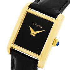 Cartier must de tanque 18k/750er oro-plated funcionan Kal. FHF 351 lujo Lady reloj