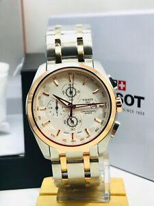 TISSOT Tachymeter Chronograph White Swiss Made Luxury Watch Quartz Movement