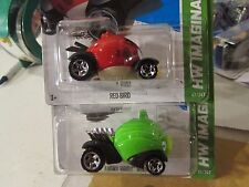 Hot Wheels Lot of (2) Angry Birds Types! HW Imagination