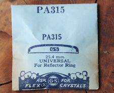 Vintage old Universal Geneve watch replacement crystal 25.4mm NOS in package