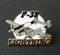 P-38 LIGHTNING AIRCRAFT LOCKHEED FIGHTER PLANE LAPEL PIN 1.5 INCHES