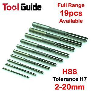 2mm-20mm Straight Shank Reamer HSS H7 Machine High Speed Steel Parallel Flute