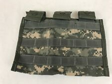 NEW Triple Mag Pouch, ACU Digicam Army 3 x 30 MOLLE II Side by Side Pouch