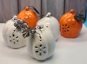 Fall Decor Ceramic Pumpkin With Embellishments