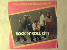 """KIM LARSEN AND JUNGLEDREAMS Rock 'n' roll city 7"""" ITALY UNIQUE PICTURE SLEEVE"""