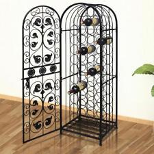 New Metal Wine Storage Cabinet Wine Rack Stand Display Organizer 45 Bottles M1S5