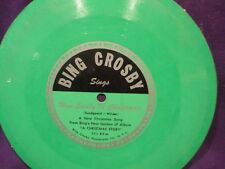 """Bing Crosby -Goodyear Tires Promo Flexi 7"""" Compact 33 - How Lovely Is Christmas"""