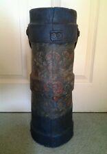 Antique 1800s? Blue British Navy Gun Powder Cordite Carrier Powder Monkey