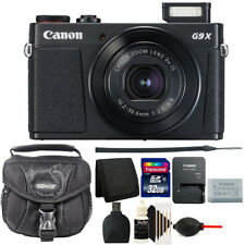 Canon G9X Mark II PowerShot 20.1MP Digital Camera (Black)+ 32GB Accessory Kit