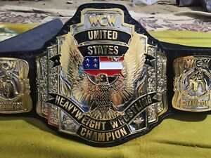 WCW UNITED STATES US CHAMPIONSHIP BELT IN 4MM ZINC  GOLD PLATED REPLICA