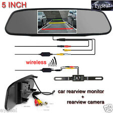 Car Wireless Kit 5 Inch TFT LCD Monitor + Night Vision Rear View Back Up Camera