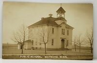 MN Maynard Minnesota PUBLIC SCHOOL RPPC 1911 Real Photo Postcard G14