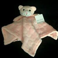 Okie Dokie Pink Kitty Cat Heart Baby Blanket Security Lovey Soft Plush Minky NWT