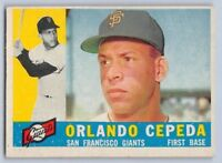 1960  ORLANDO CEPEDA - Topps Baseball Card # 450 - SAN FRANCISCO GIANTS