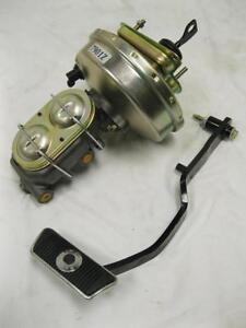 "1967-1970 Ford Mercury 9"" Zinc Brake Booster + Master Cylinder & Black Pedal Arm"
