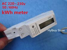 Digital LCD 220V 230v AC DIN Rail Electric meter Home Kilo Watt Hour KWH Meter