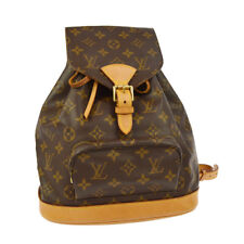 AUTHENTIC LOUIS VUITTON MONTSOURIS MM BACKPACK BAG MONOGRAM M51136 AK25772b