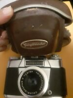 Voigtlander Bessamatic Deluxe 35mm Camera w/ Color Skopar 50mm f2.8  Lens + Case