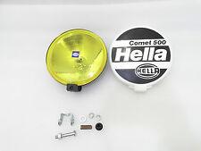 NEW HELLA BLACK MAGIC COMET 500 HALOGEN DRIVING LAMP KIT + FITTING CAR TRUCK