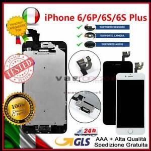 DISPLAY SCHERMO LCD PER IPHONE 6 PLUS 6S 6S PLUS 6 COMPLETO ASSEMBLATO + BUTTON