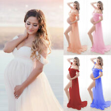 Pregnant Women Off Shoulder Sexy Long Maxi Dress Maternity Photography Clothes