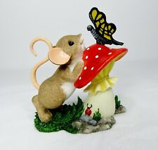 "Nib Charming Tails #19372 Resin Mouse & Butterfly ""You Are So Beautiful To Me"""